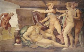 """The Drunkenness of Noah"" by Michelangelo Buonarroti"